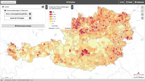(c) Screenshot PV-Landkarte Österreich